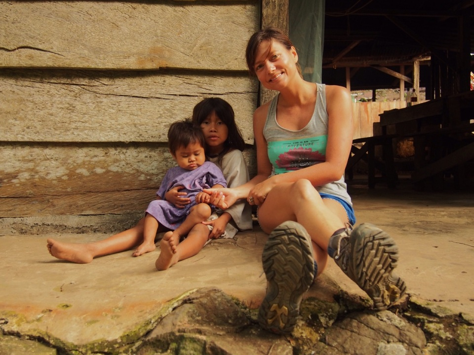 Chilling with indigenous kids living below the Lost City, Colombia