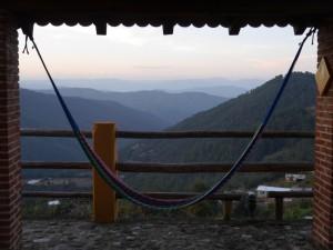 Hammock mountain view, Sierra Norte, Oaxaca