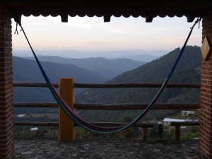 Hammock mountain view, Sierra Norte, Oaxaca