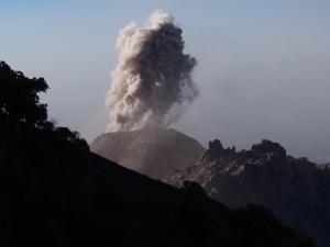 Erupting Volcano Santiaguito