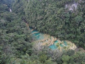 Semuc Champey, view from Mirador