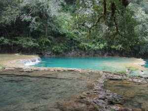 Swimming Semuc Campey, Guatemala