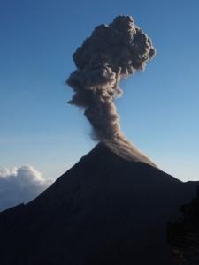 Volcano Fuego Erupting near Antigua, Guatemala