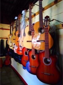 Guitar maker in Masaya