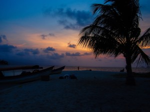 Stunning island sunset on the San Blas