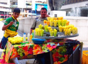 Enjoying fruit in Medellin, Colombia