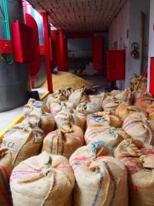 Coffee bags at Hacienda Venecia Coffee Farm