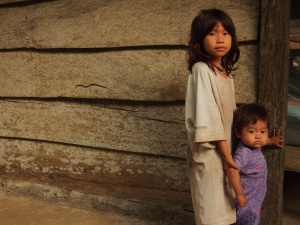 Beautiful Indigenous Kogi children, living below the Lost City, Colombia