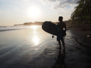 Surfer at Sunset, Panama