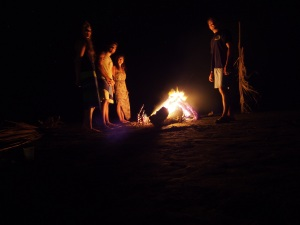 Bonfire on Estero Beach, near Santa Catalina