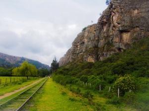 Suesca's rock climbing wall near Bogota, Colombia