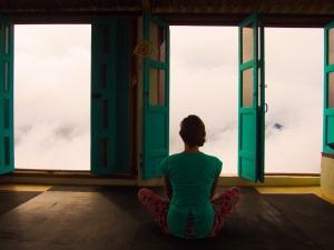 Yoga in the clouds, La Mojarra, Colombia