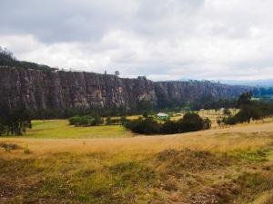 Climbing at Suesca near Bogotoa, Colombia