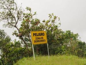 Trans: Danger, landslide zone