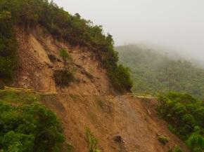 A recent landslide