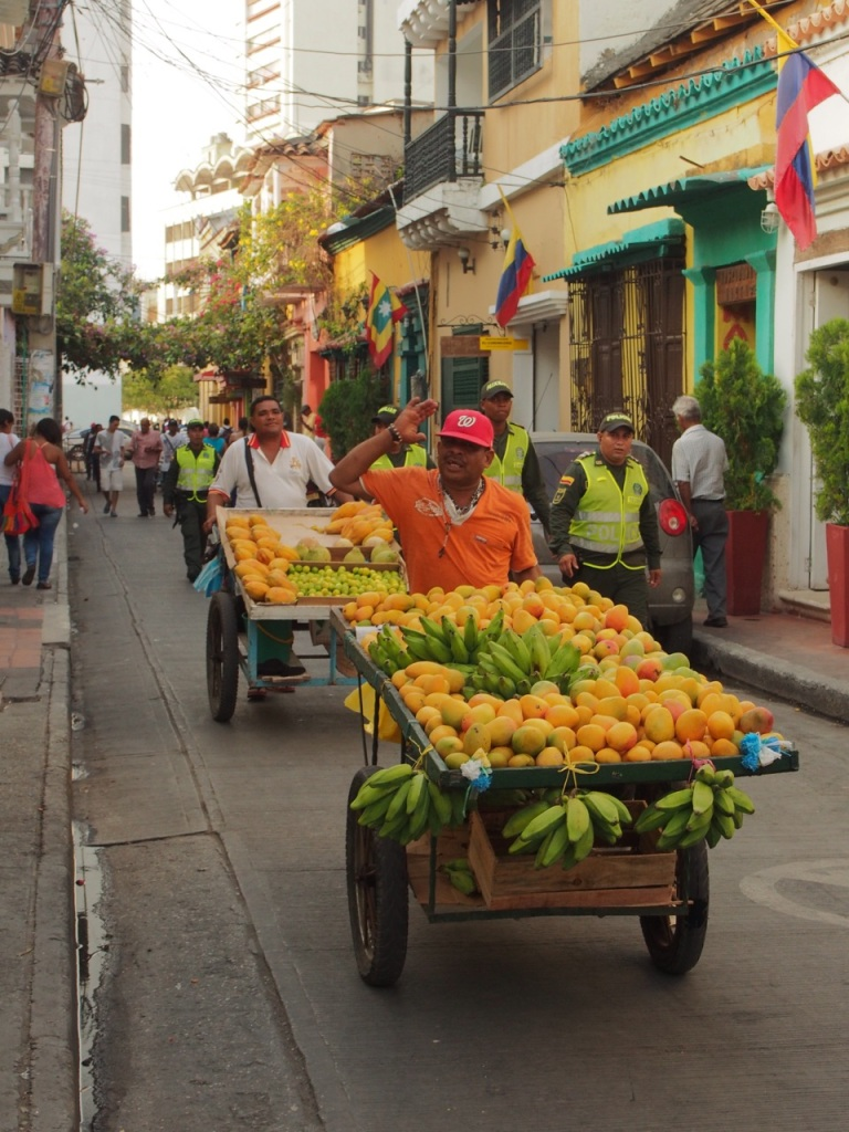 Fresh fruit sellers in Cartagena, Colombia