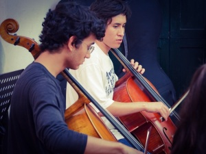 Iván Aguiler, Cello Student playing Beethoven Symphony Number 5