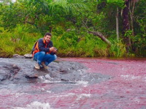 Javier was kidnapped by FARC guerrillas while working near Caño Cristales in 2008