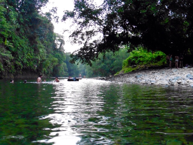 Tubing along the river, San Cipriano