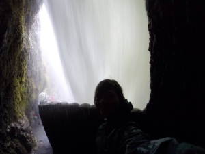 Behind Pailon del Diablo (Devil's Cauldron) Waterfall
