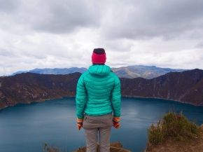 Standing on the edge of Quilotoa