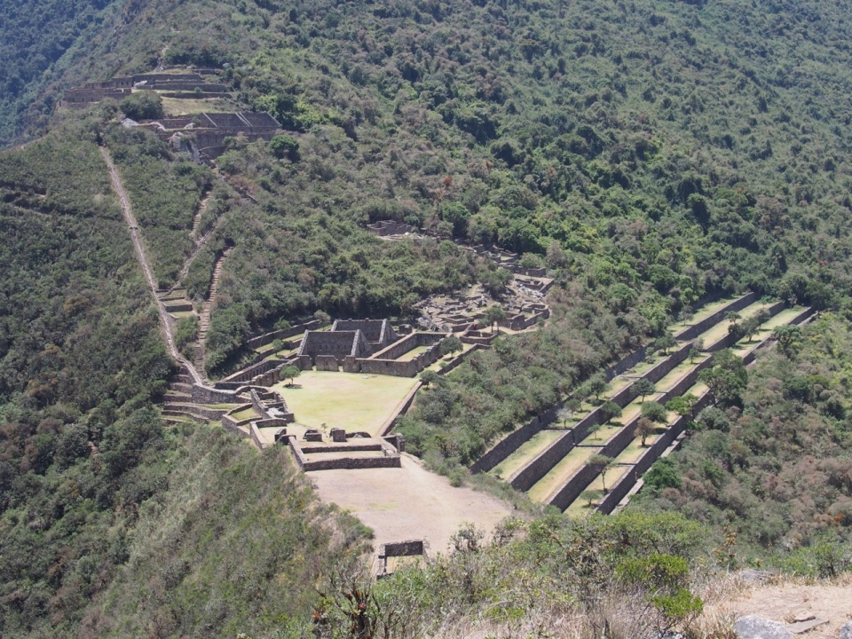 Mountain top view of Choquequirao