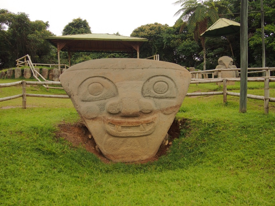 Tombstones in southern Colombia