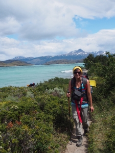 Trekking along the W, Torres del Paine, Patagonia, Chile