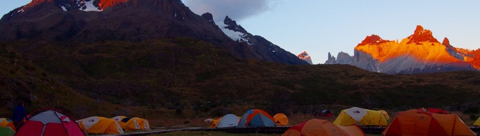 Sunset at Paine Grande campground